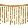 Sequin Fringe 6mm Trim Hologram Gold 15cm Long